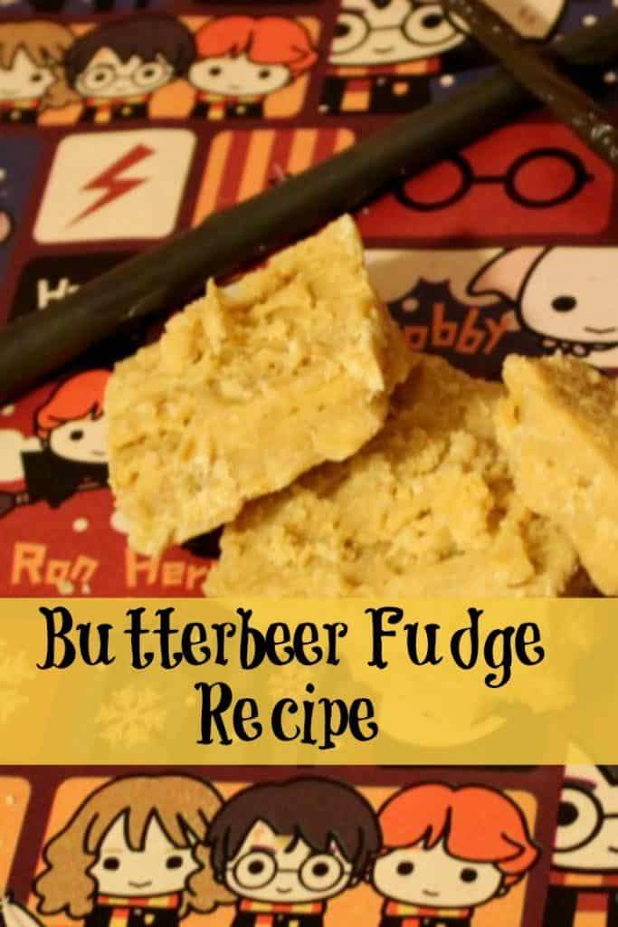 This butterbeer fudge recipe is the perfect gift for the Harry Potter fan in your house. Even better, this an easy fudge recipe you can make for gifting or to enjoy while watching the Harry Potter movies.