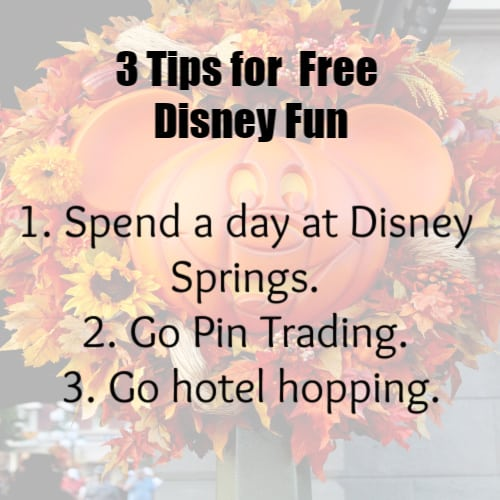 3 Tips for Free Disney Fun