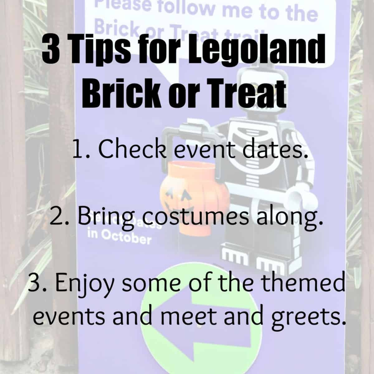 3 tips for Legoland Brick or Treat