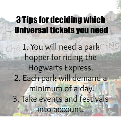 3 Tips for deciding which Universal Tickets you need