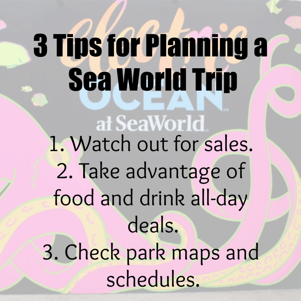 3 Tips for planning a Sea World Trip