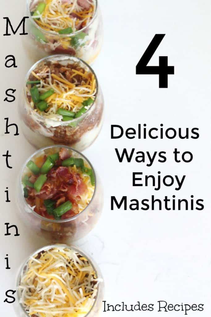 A mashed potato bar is the perfect way to meal prep while creating a delicious dinner for the family! Find four mashtini recipes as well as some tips for meal prepping while making a mashed potato bar. #MealPlanning #FreezerCooking #Recipe
