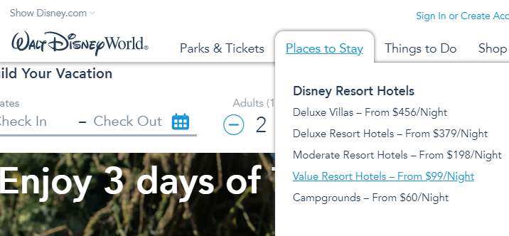 Save money on your Disney vacation by booking a value resort