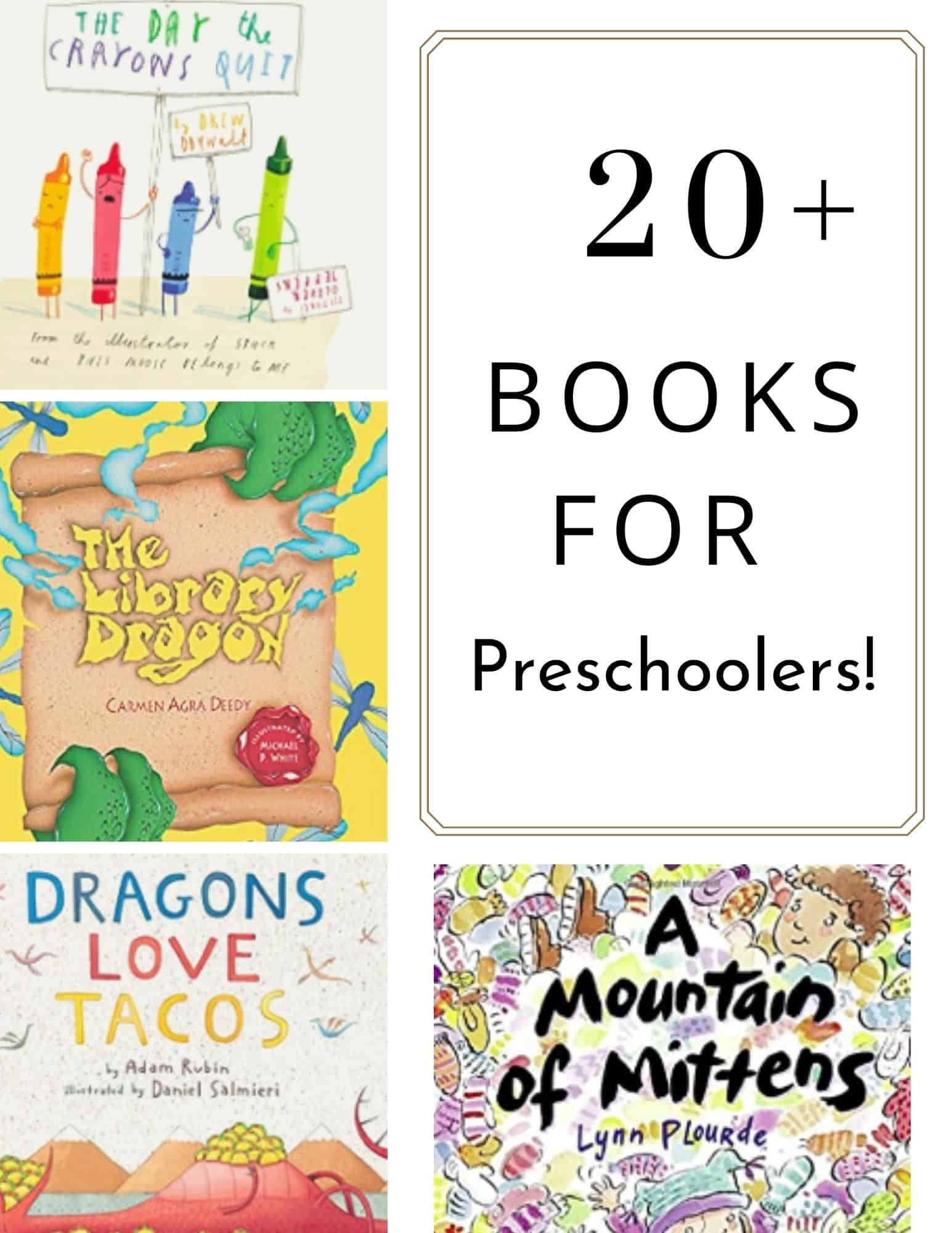 Buying books for preschoolers can be easy with these fun books for early readers. Includes over 20 books preschoolers are sure to love! Perfect for read-aloud or family reading time.