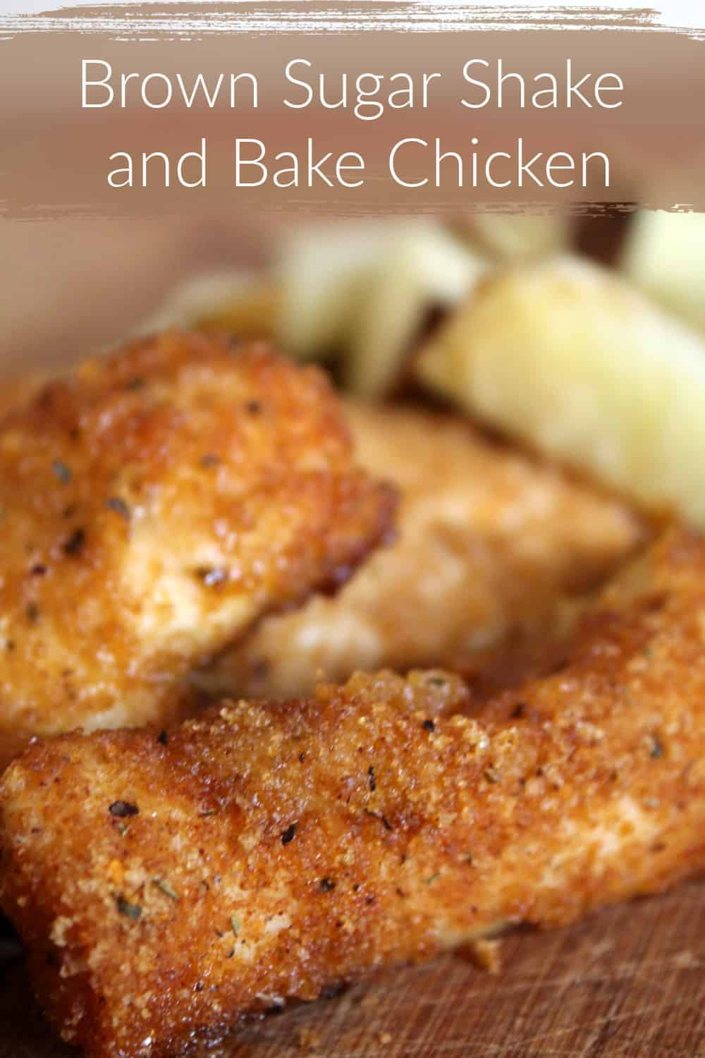 Finding an easy chicken recipe for moms isn't hard with this Brown Sugar Shake and Bake chicken nugget recipe that is sure to be a hit!