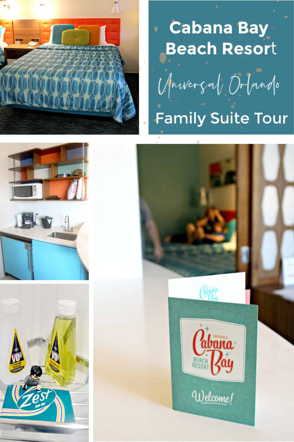 Cabana Bay Beach Resort at Universal Orlando Family Suite Room Tour - Includes photos and a walkthrough of the room.