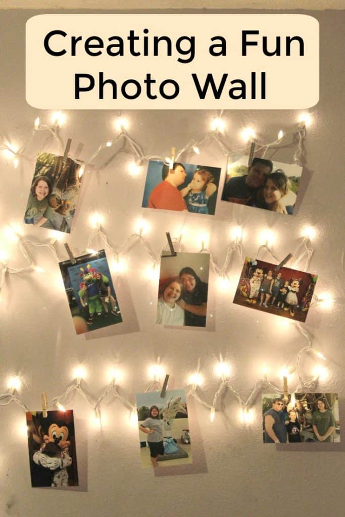 Creating a teen safe space can make all the difference when parenting teens. Don't miss these tips and this fun photo wall craft. #parenting #ParentingTeens #Craft