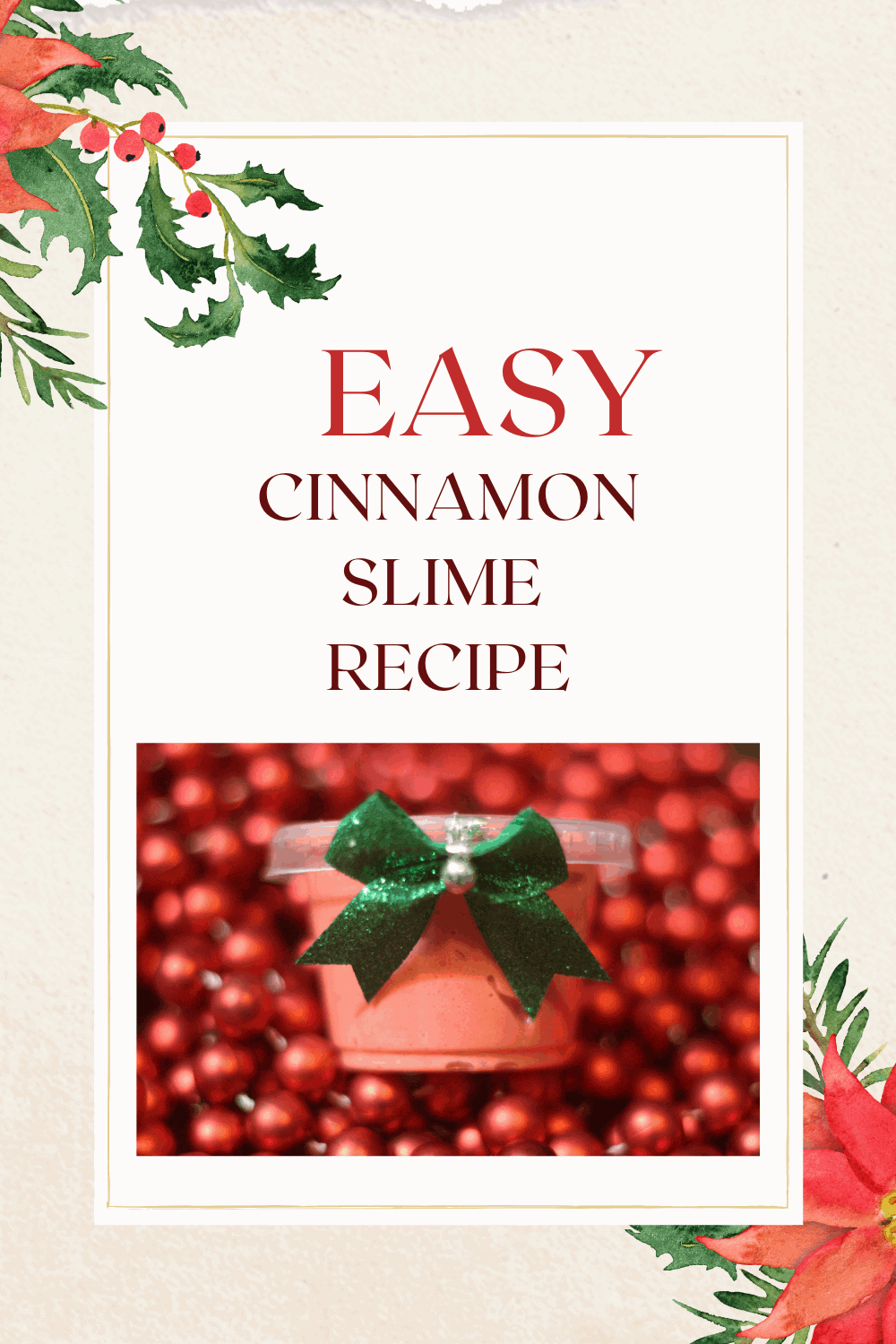 Cinnamon slime recipe perfect as a Christmas slime recipe or as a holiday party favor idea. This cinnamon slime smells amazing!