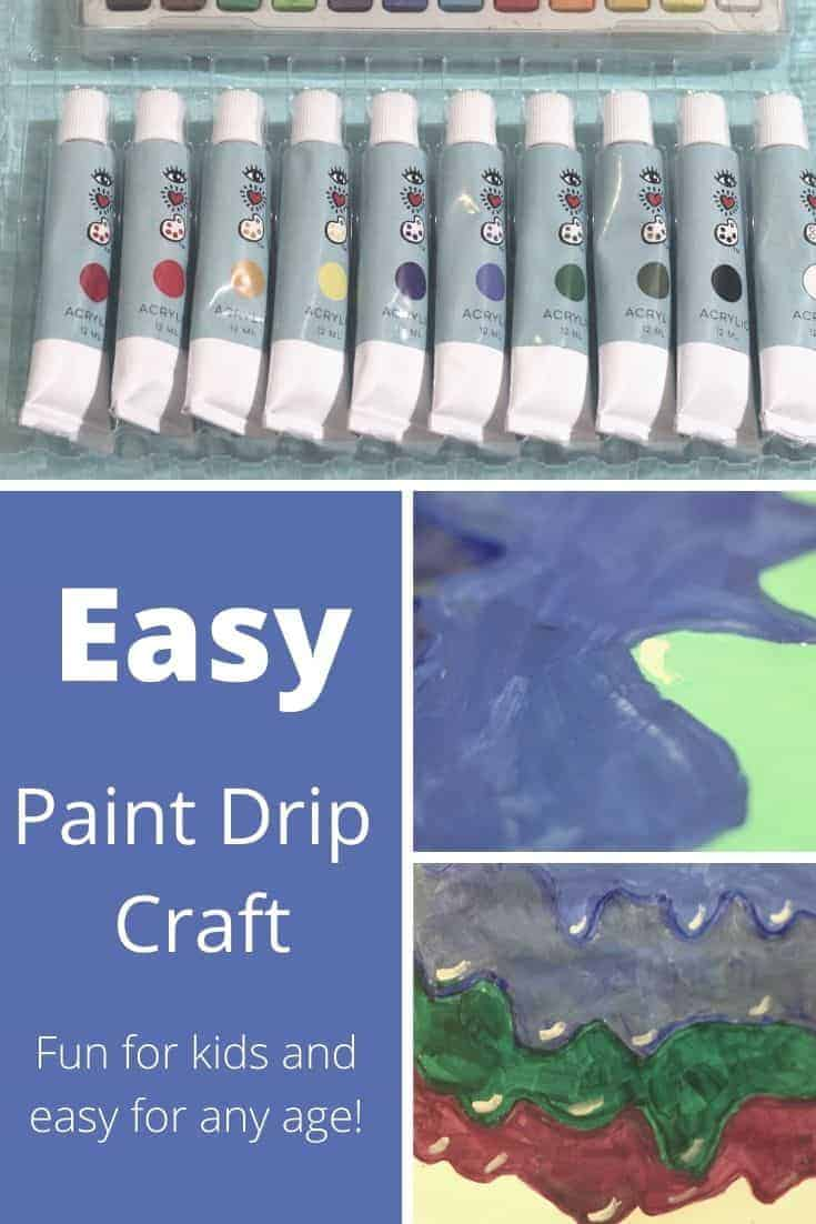 Easy Paint Drip Craft for kids. Easy craft for kids who want to try a new craft. Simple craft with minimal supplies needed.