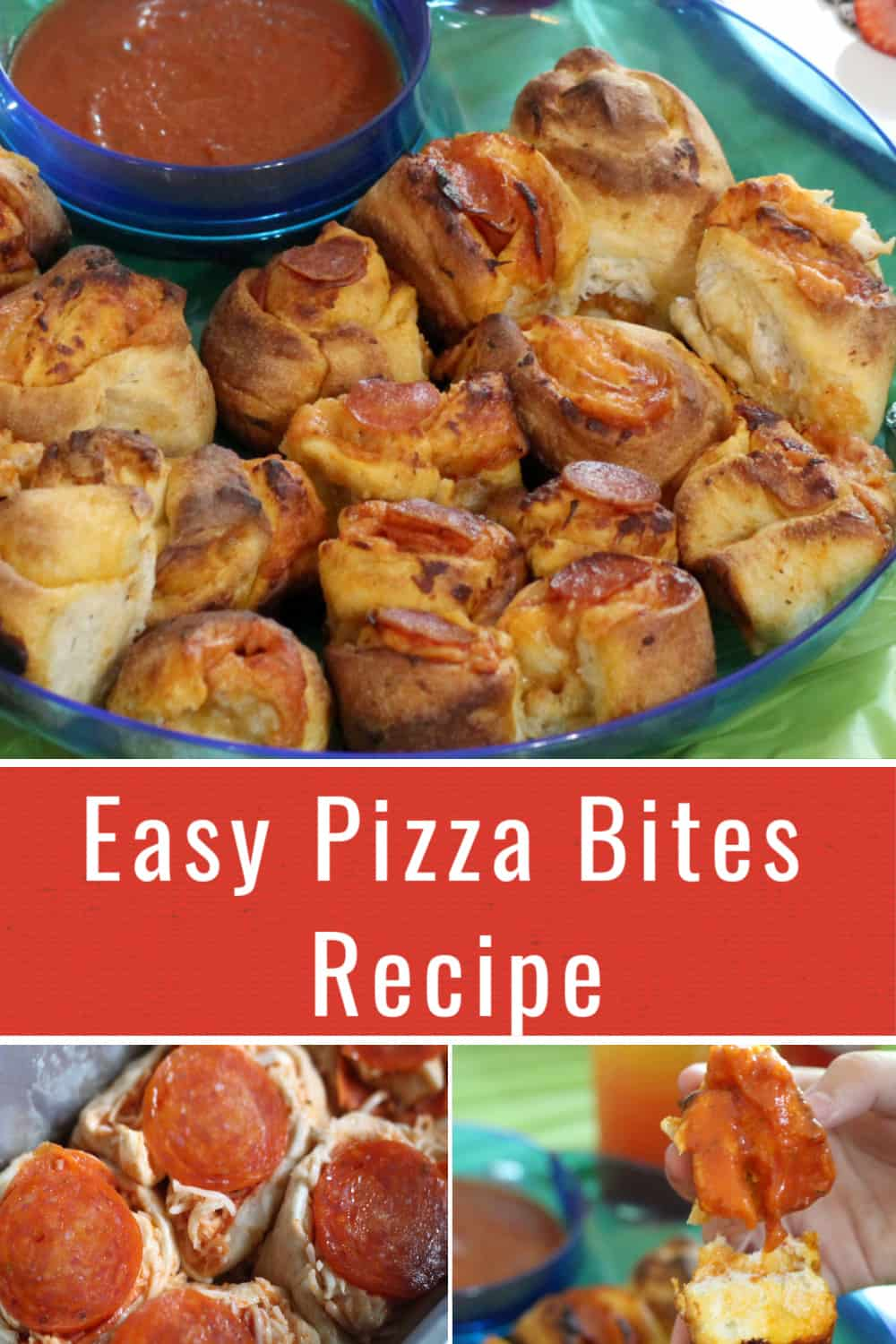 Easy Pizza Bites Recipe perfect for an Artemis Fowl party or any family entertaining event.