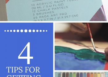 4 tips for getting kids crafting. Includes crafting tips for moms who don't love crafting!