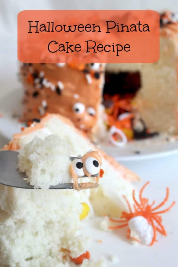 This Halloween Pinata Cake Recipe is an easy pinata cake recipe anyone can make! Learn how to make a pinata cake while making a great treat! #Halloween #Recipe #HalloweenRecipe