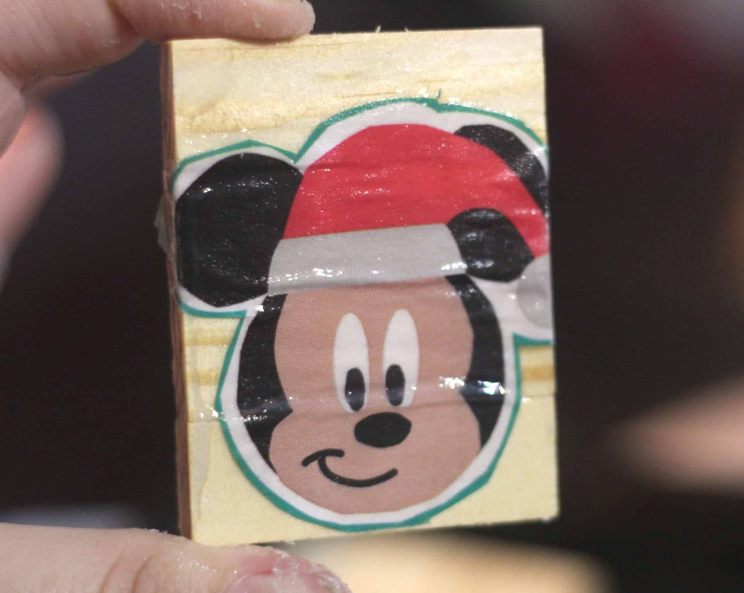Mickey Modpodged on to ornament