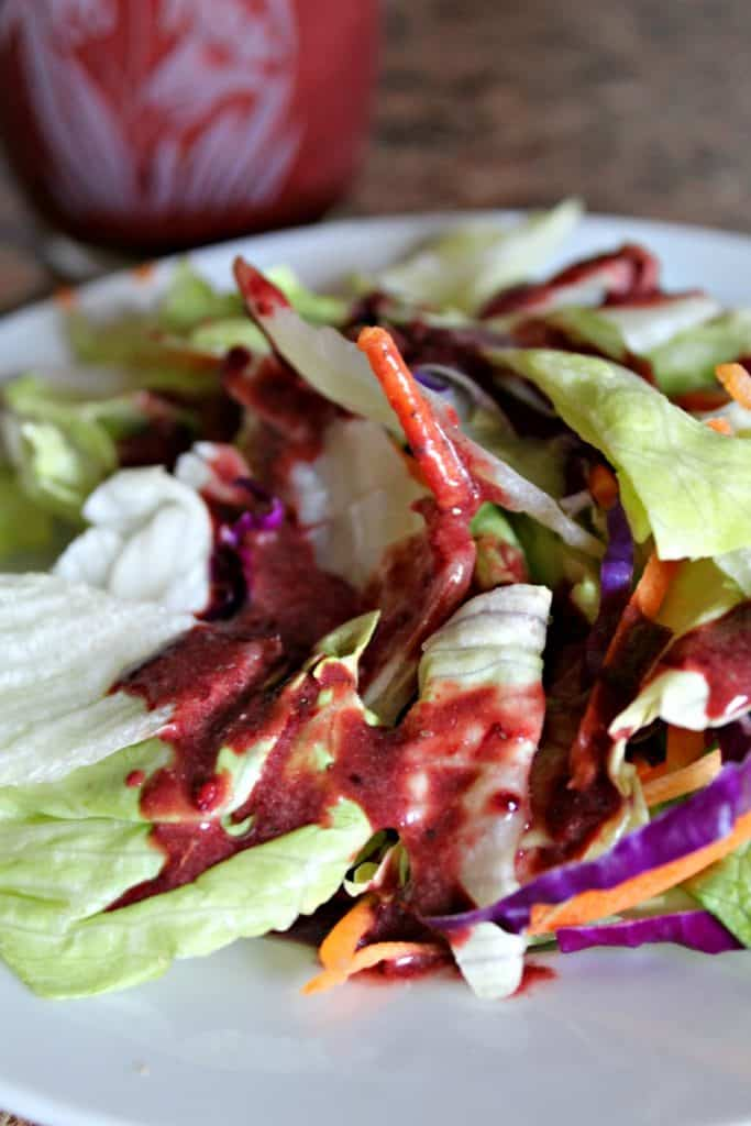 Blackberry Vinaigrette Salad Dressing recipe. AIP, Paleo, and Gluten free!