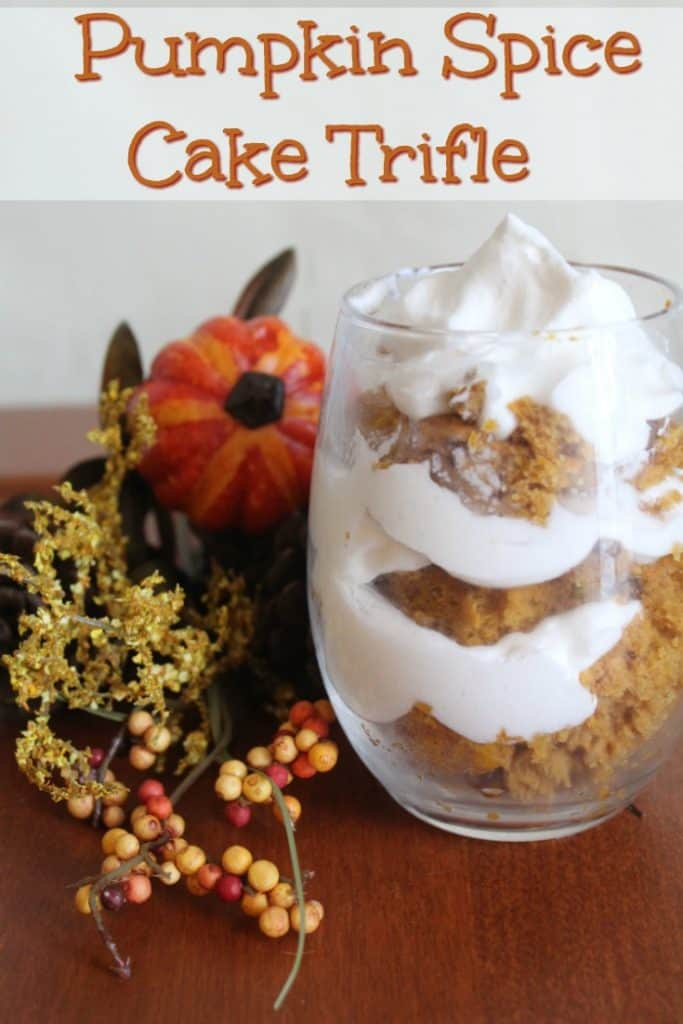 This pumpkin spice cake trifle is incredibly easy to make. Even better, it's packed with flavor and crazy easy to make for any event you are planning!