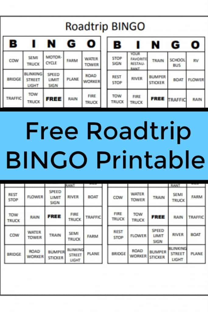 Free Roadtrip Bingo Printable Planning for a Road Trip so you don't lose your mind Don't miss these family travel tips to help you enjoy a summer road trip.-#travel #roadtrip #parenting