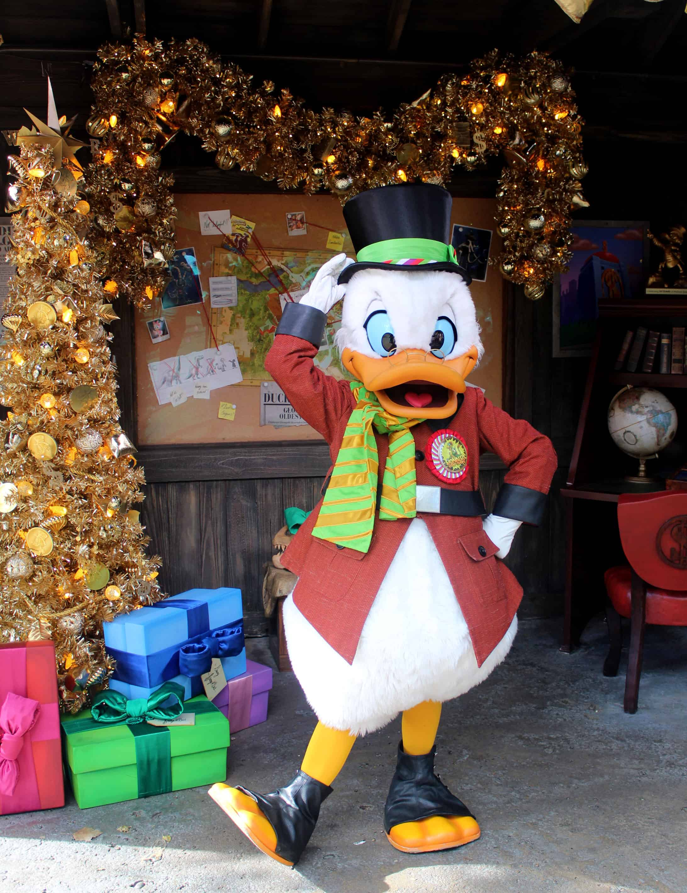 Holidays at Disney's Animal Kingdom Scrooge McDuck Meet and Greet