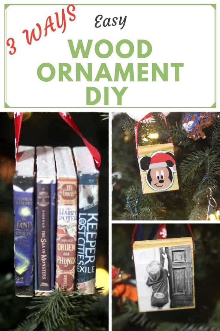 Wood Ornament DIY - Easy DIY Christmas Ornament that is low cost and simple to make. Perfect for DIY Christmas gifts.